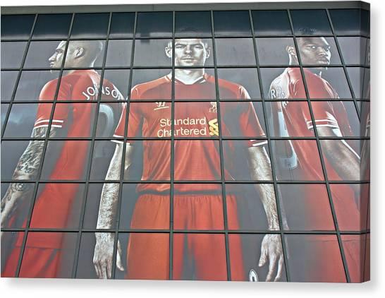 British Premier League Canvas Print - Liverpool Football Club Shop by Ken Biggs