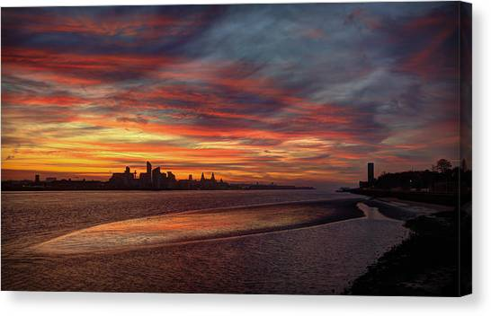 Liverpool Skyline Canvas Print