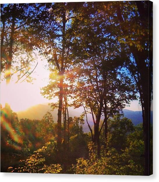 John Adams Canvas Print - Livin A Mountain Morning by John Adams