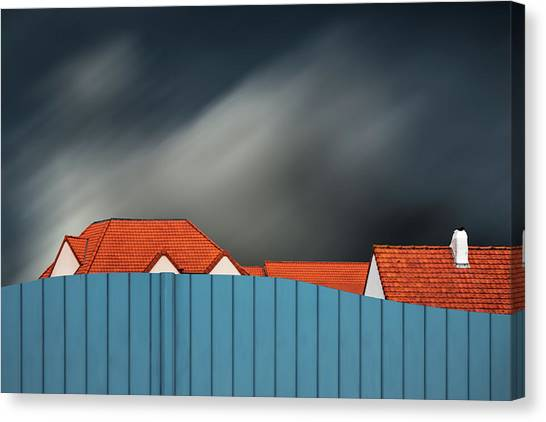 Rooftop Canvas Print - Living Behind The Fence by Gilbert Claes