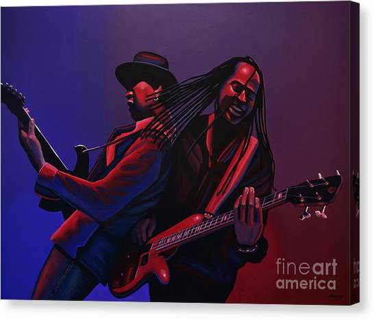 Hip Hop Canvas Print - Living Colour Painting by Paul Meijering