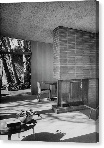 Coffee Plant Canvas Print - Living-dining Room By Carl Louis Maston by Julius Shulman