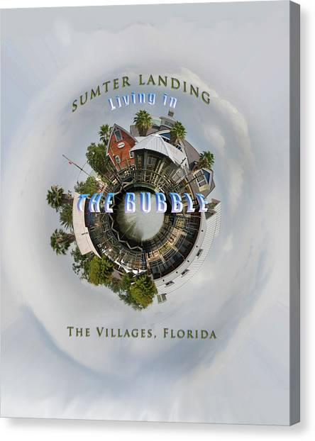 Living In The Bubble Sumter Landing Canvas Print by Wynn Davis-Shanks