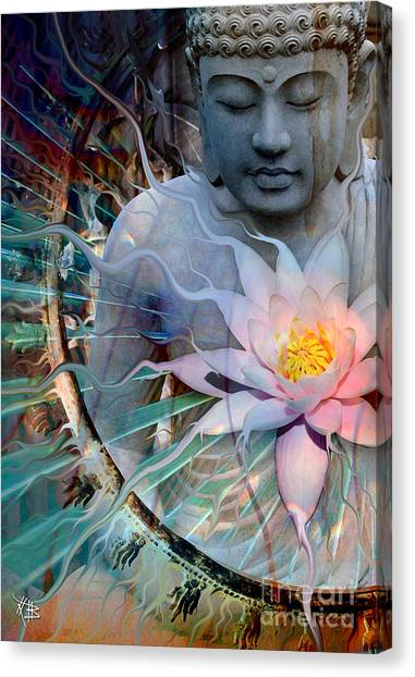 Buddhist Canvas Print - Living Radiance by Christopher Beikmann
