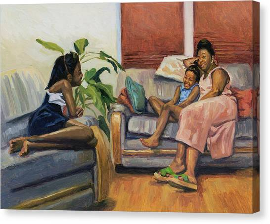 African American Artist Canvas Print - Living Room Lounge by Colin Bootman