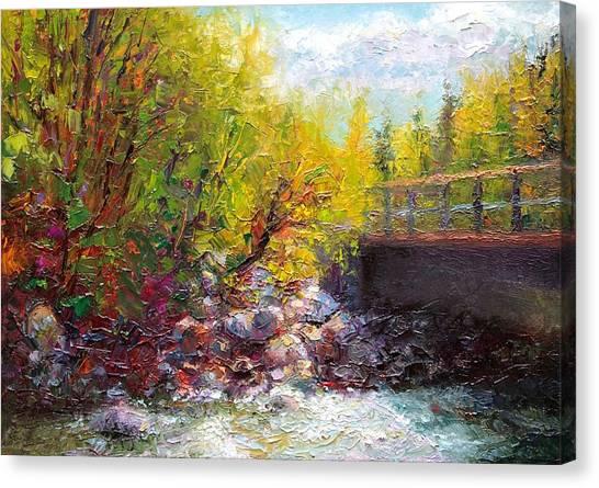 Living Water - Bridge Over Little Su River Canvas Print
