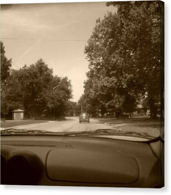 Driving Canvas Print - #livonia by Leslie Moore