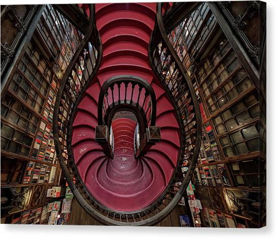 Libraries Canvas Print - Livraria Lello by #name?