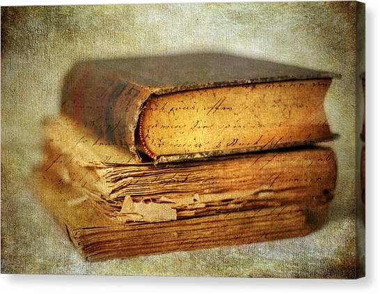 Timeworn Canvas Print - Livres by Jessica Jenney