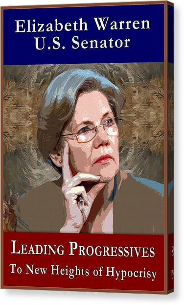 Elizabeth Warren Canvas Print - Liz Hiawatha Warren by Will Barger