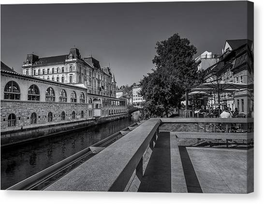 Ljubljana - Central Market Canvas Print