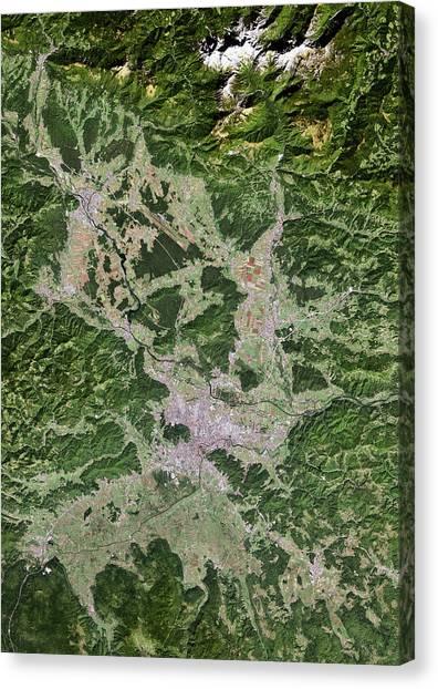Ljubljana Canvas Print - Ljubljana by Planetobserver/science Photo Library