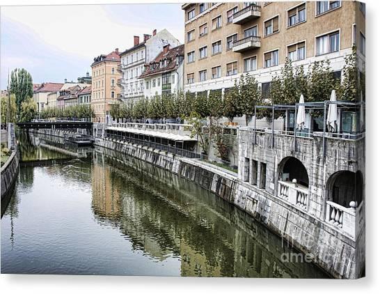 Ljubljana Canvas Print - Ljubljana River by Crystal Nederman