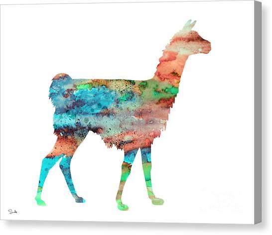 Llamas Canvas Print - Llama by Watercolor Girl