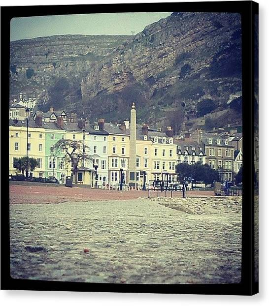 The Acropolis Canvas Print - Llandudno Promenade #acropolis by Mark Roberts