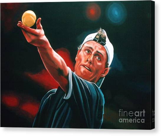 Tennis Players Canvas Print - Lleyton Hewitt 2  by Paul Meijering