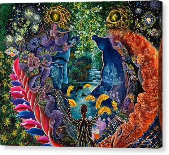 Rainforests Canvas Print - Llullon Llaki Supai by Pablo Amaringo