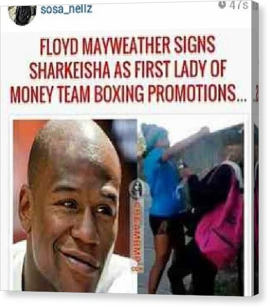 Knockout Canvas Print - Lmao #mayweather #highlife #sharkeshia by Brandon Fisher