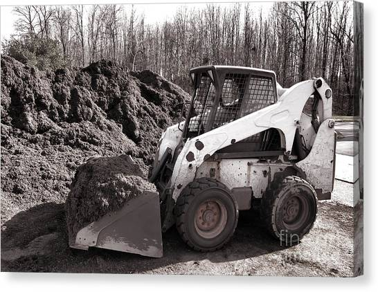 Excavators Canvas Print - Loader  by Olivier Le Queinec