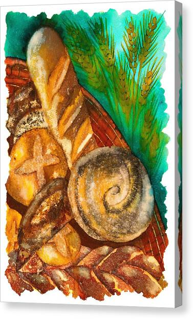 Loaves Of Bread Canvas Print by Tess Stone