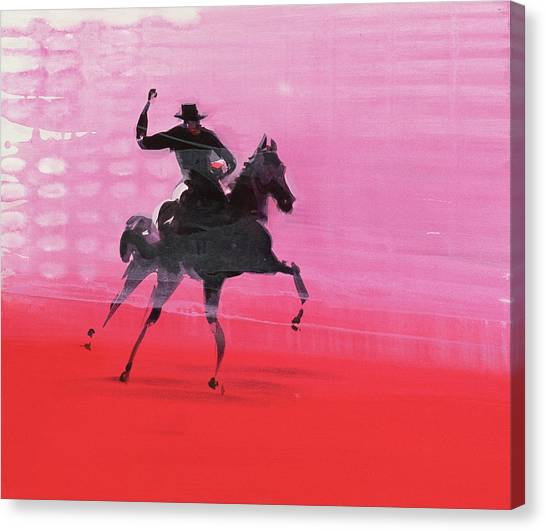 Horses Galloping Canvas Print - Lobby by Susie Hamilton
