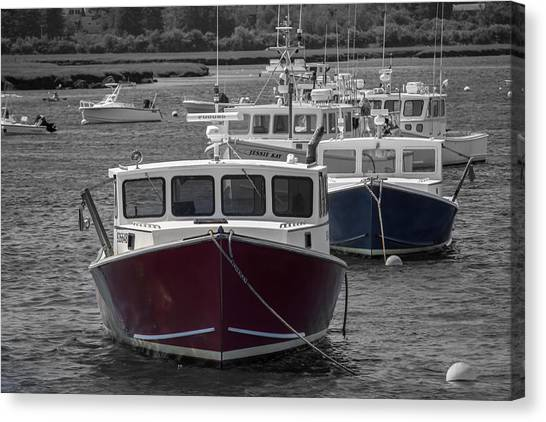 Lobster Boats Selective Color Canvas Print