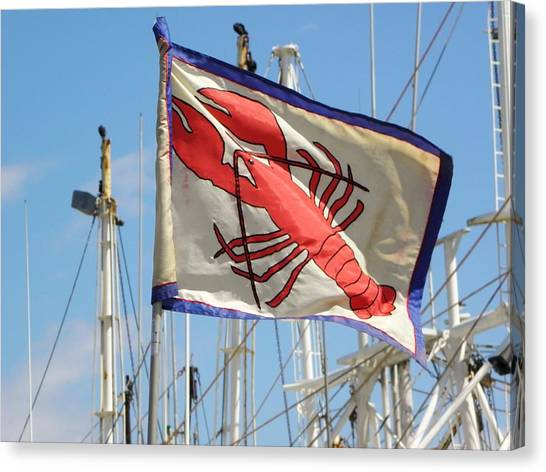 Lobster Flag At The Point Canvas Print