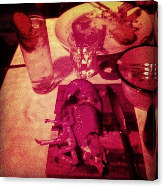 Lobster Canvas Print - Lobster For Dinner With The Lady by Kirk Truman
