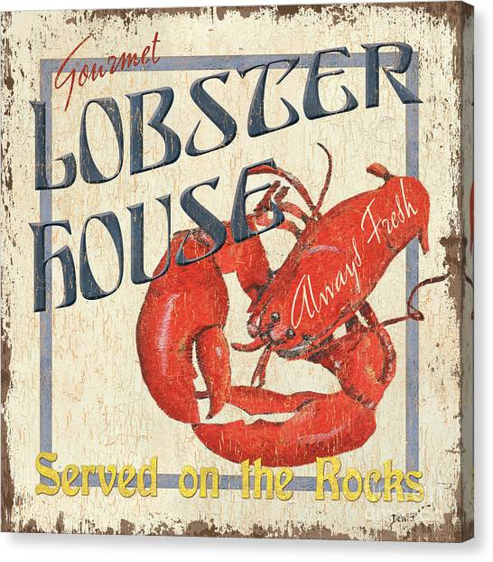 Lobster Canvas Print - Lobster House by Debbie DeWitt