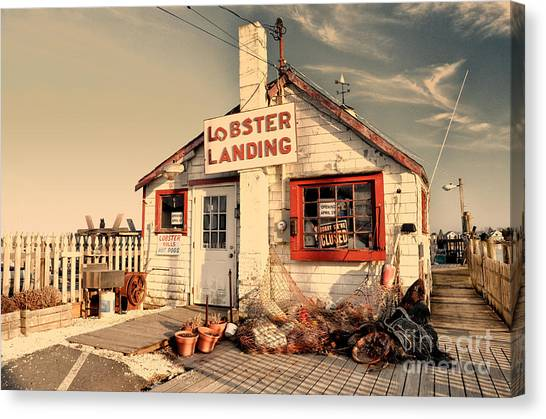 Lobster Landing Clinton Connecticut Canvas Print