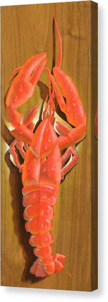 Lobster On A Plank Canvas Print