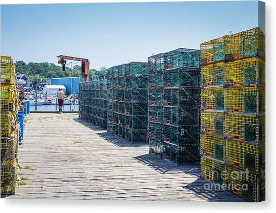 Lobster Traps Canvas Print
