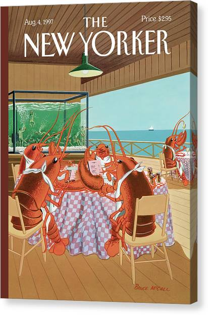 Lobster Canvas Print - Lobsterman's Special by Bruce McCall