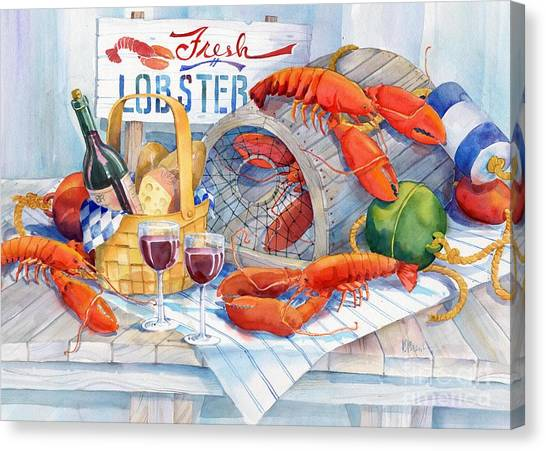 Lobster Canvas Print - Lobsters Galore by Paul Brent
