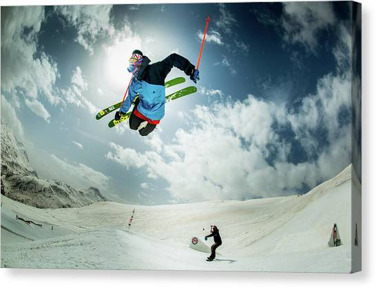 Winter Sky Canvas Print - Local Ema Galli  Performing... by Eric Verbiest