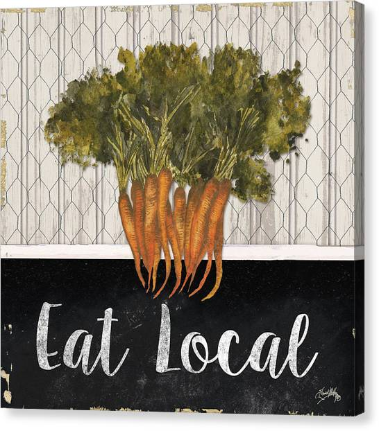 Carrots Canvas Print - Local Grown I by Elizabeth Medley