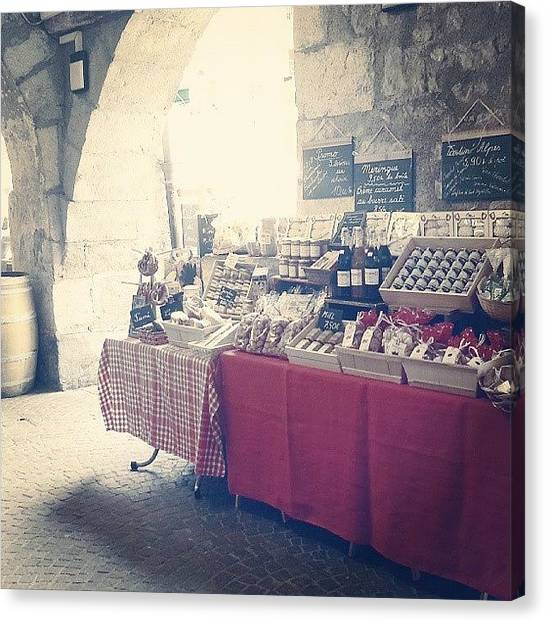 Meat Canvas Print - Local Market by Barbara Orenya