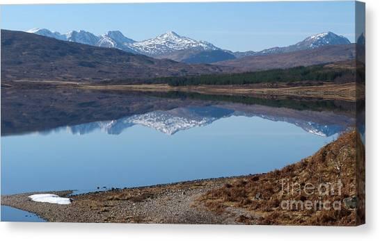 Loch A' Croisg - Scotland Canvas Print by Phil Banks