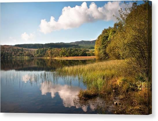 Jenny Lake Canvas Print - Loch Achray. Trossachs. Scotland by Jenny Rainbow