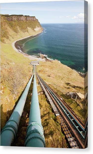 Clean Energy Canvas Print - Loch Leathan Hydro Power Station by Ashley Cooper