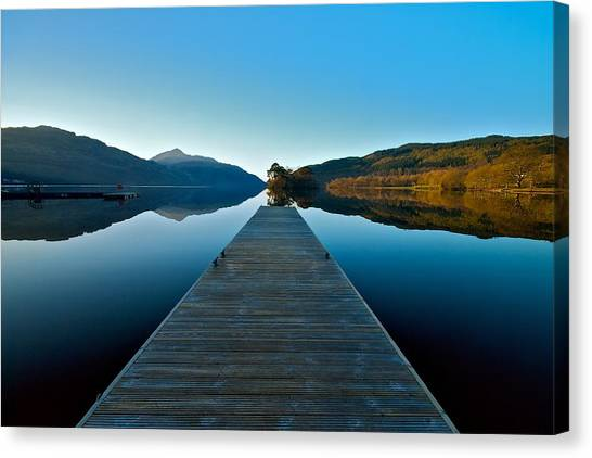 Loch Lomond In The Morning Canvas Print