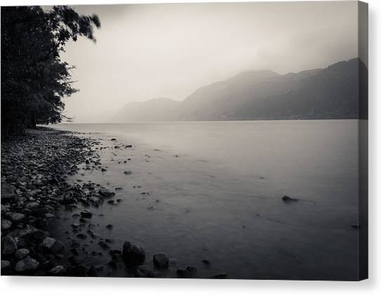 Cloud Forests Canvas Print - Loch Ness Shore by Chris Dale