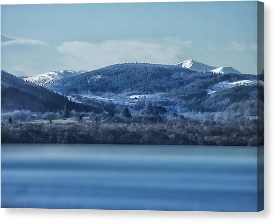 Loch Ness Winter Blues Canvas Print