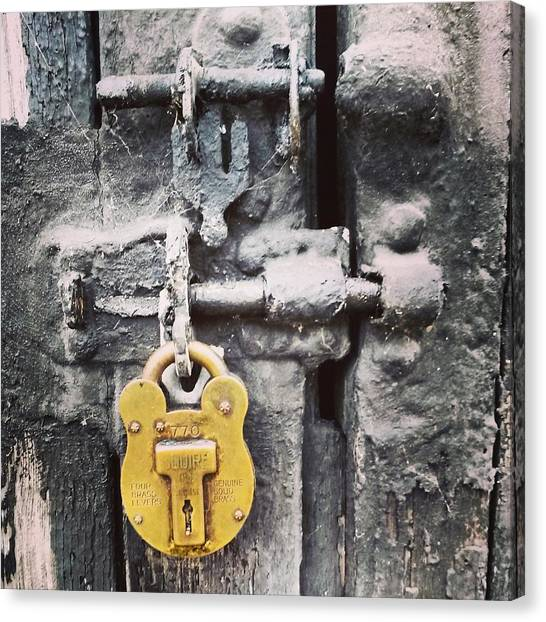 Metal Canvas Print - Lock  by M Griffiths