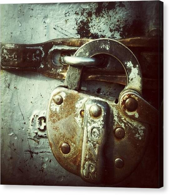 Rust Canvas Print - Locked by Nathalie Longpre