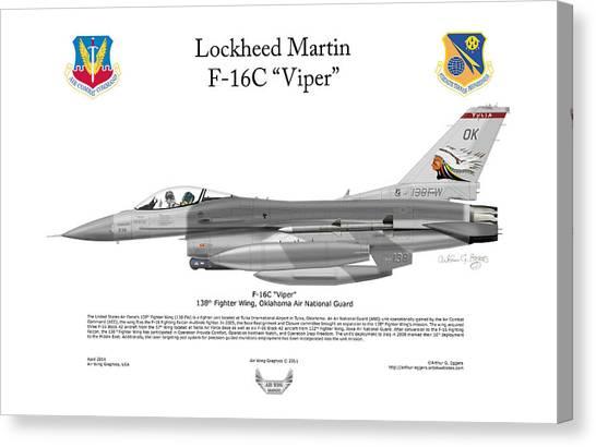 Lockheed Martin F-16c Viper Canvas Print by Arthur Eggers