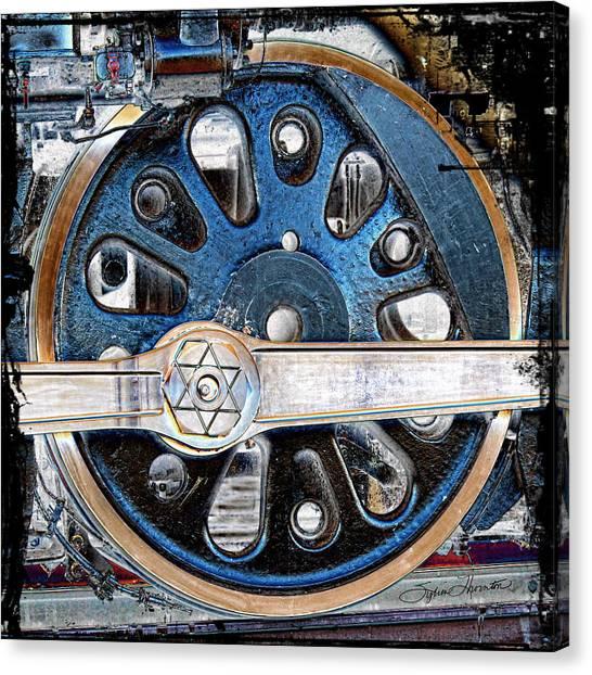 Loco Wheel Canvas Print