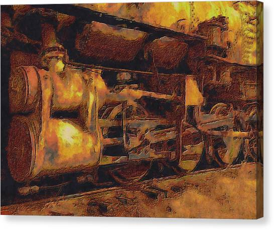 Accelerate Canvas Print - Locomotion by Jack Zulli