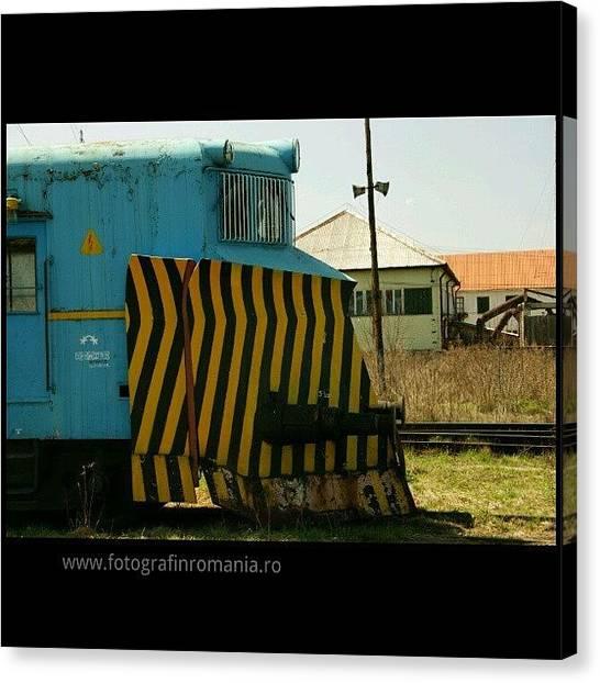 Locomotive Canvas Print - #locomotive In #gheorgheni #harghita by Vaivoda Vlad