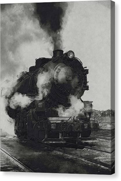 Accelerate Canvas Print - Locomotive by Jack Zulli